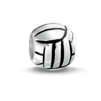 Volleyball Ball Sports Team Charm Bead 925 Sterling Silver