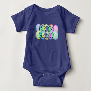 Colored Easter Eggs - Happy Easter Baby Bodysuit