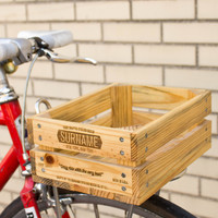 Sixer Reclaimed Wood Bike Basket
