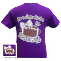 Girlie Girl Originals I'm a Seer-Sucker for Football Bow Purple Bright T Shirt