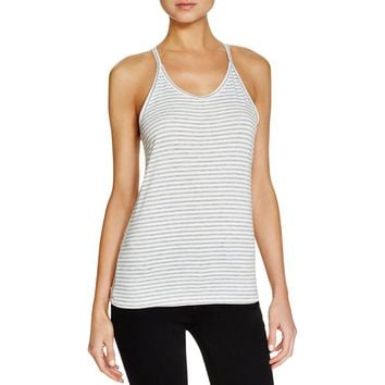 Michelle by Comune Womens Coachella Striped Knit Blend Tank Top