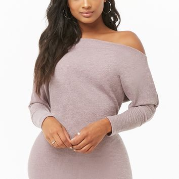 Sweater-Knit Mini Dress