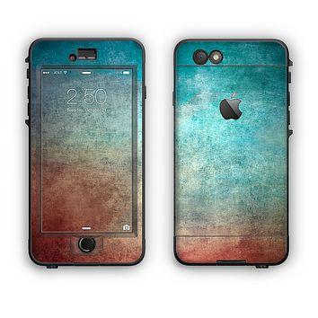 The Faded Grunge Color Surface Extract Apple iPhone 6 LifeProof Nuud Case Skin Set
