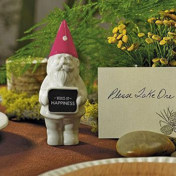 Porcelain Garden Gnome Wedding Favor (Pack of 4)