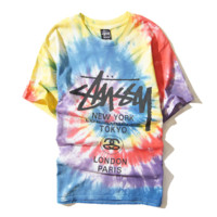 Rainbow Tie Dye Short Sleeve T Shirt