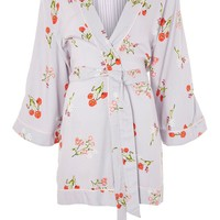 Poppy Print Robe - Lingerie & Nightwear - Clothing
