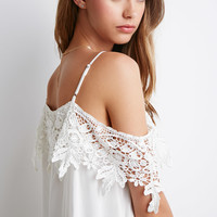 Crochet Open-Shoulder Top - Clothing - 2000096615 - Forever 21 EU
