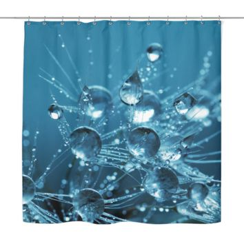 Silent Rain Drops Shower Curtain