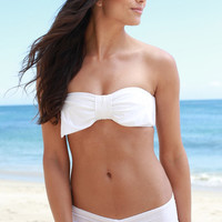 The Girl and The Water - Lolli - Regalito Bow Bandeau Top / White - $97