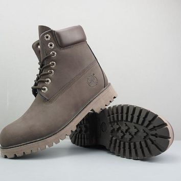 Timberland Leather Lace-Up Boot High Chocolate - Best Deal Online