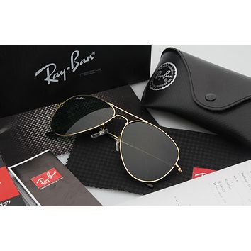 Ray Ban Aviator Sunglass Gold Dark Green/Pink Mirrored RB 3025 112/69