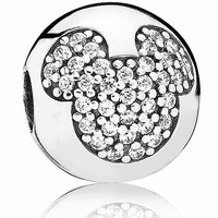 Authentic Pandora Jewelry - DISNEY Mickey Pavé Clip