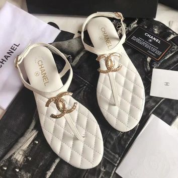 Chanel Women Fashion Casual Sandals Shoes Flats Shoes