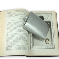 SneakyBooks Recycled Hollow Book Hidden Flask Diversion Safe (Flask Included)
