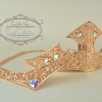 Aurora Sleeping Beauty Crown and Necklace
