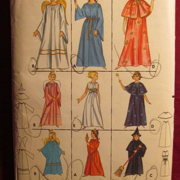 SALE Uncut 1960's Butterick Sewing Pattern, 3238! 10-12 Girls/Kids/Children/Halloween Costumes/Angels/Statue of Liberty/Witches/Fairy/Roman