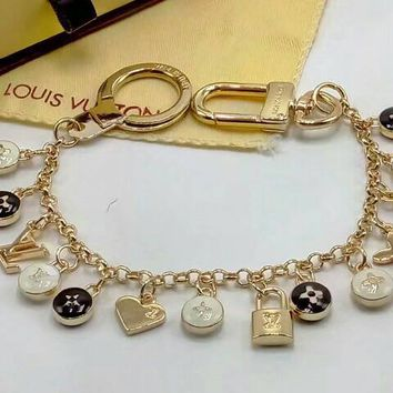 LV Woman Fashion Logo Plated Bracelet For Best Gift