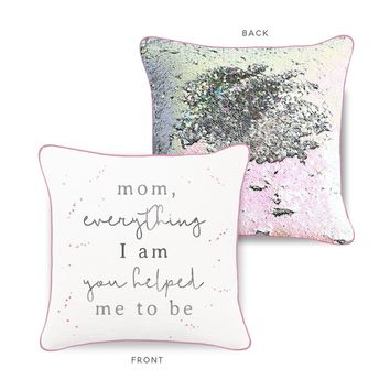 *Mother's Day* Mermaid Pillow w/ Iridescent & Silver Sequins [Limited Edition]