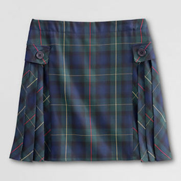 School Uniform Side Pleat Plaid Skort (Above The Knee) from Lands' End