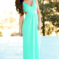 I Don't Do Dishes Maxi Dress-Mint