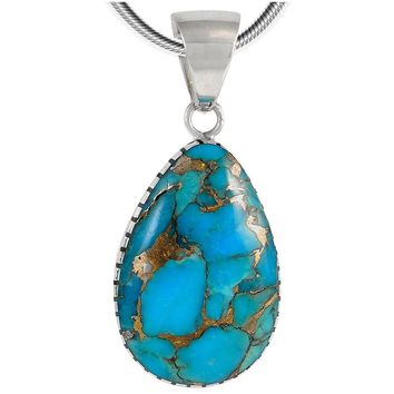 Turquoise Pendant Necklace in Sterling Silver (SELECT Style)