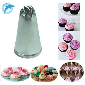 LINSBAYWU Stainless Steel Drop Flower Tips Cake Nozzle Cupcake Sugar Crafting Icing Piping Nozzles Pastry Tool HF312
