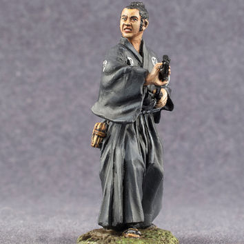 Toy Soldier Japanese Samurai Hand Painted Antique Figurines 54mm 2 1/4 Scale Miniature Collection - Free Shipping