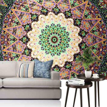 Ouneed Cute Tapestry Wall Hanging Mandala India Durable Classic Yoga Mat Bedspread Beach Towel Shawl Happy Sale ap516