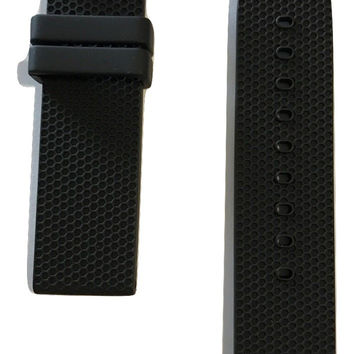 Movado BOLD Black Rubber 22mm Watch Band Strap with Buckle