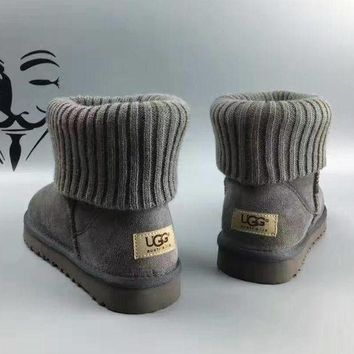 UGG leather boots boots in tube Boots Grey