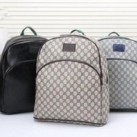 DCCKH3L Gucci' Men Fashion Casual Simple Classic Print Backpack Large Capacity Travel Double Shoulder Bag