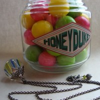 LEVITATING SHERBERT BALLS - Harry Potter Inspired Honeydukes Necklace | JetaimeBoutique - Jewelry on ArtFire
