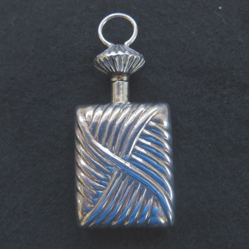 Vintage Sterling Silver Perfume Pendant
