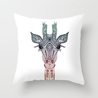 GiRAFFE Throw Pillow by M✿nika  Strigel