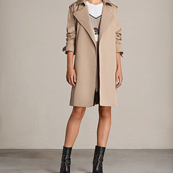ALLSAINTS US: Womens Riley Mac (SAND BROWN)