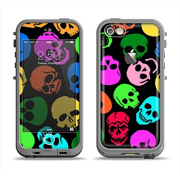 The Vivid Vector Neon Skulls Apple iPhone 5c LifeProof Fre Case Skin Set