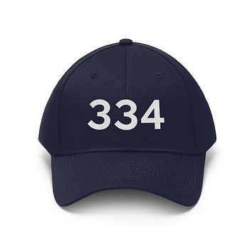 Alabama 334 Area Code Embroidered Twill Hat