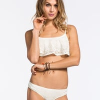 Roxy Sand Dollar Bikini Bottoms Cream  In Sizes