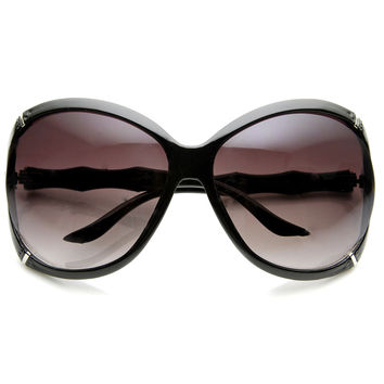 Oversize Womens Fashion Designer Bamboo Style Sunglasses 8995