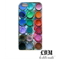 WATERCOLOR paint box iPhone case iPhone 4 iPhone 4s iPhone 5 vibrant artsy photo creative artist hard plastic case