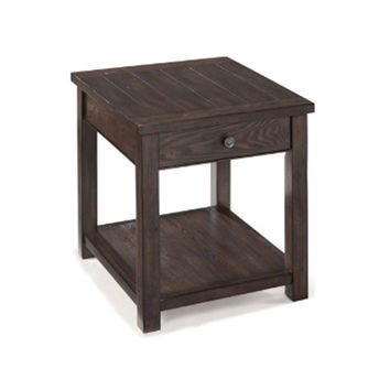 Magnussen Home T2741-03 Clayton Dark Chestnut End Table