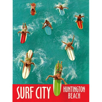 Personalized Surf City Wood Sign