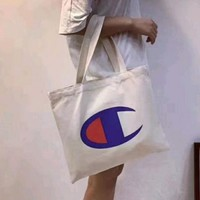 Champion Women Shopping Canvas Handbag Tote Satchel Shoulder Bag