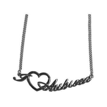 NCAA Auburn Tigers Heart Script Necklace