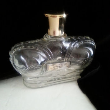 Large Vintage Prince Matchabelli Perfume Bottle Collectible Mid Century Modern 1950's Rare Windsong Signed & Made In France