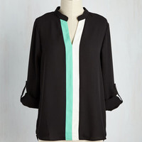 Alma Modern Top in Black | Mod Retro Vintage Short Sleeve Shirts | ModCloth.com