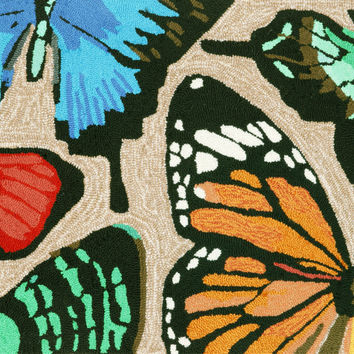 "Butterfly Dance Multi 30"" x 48"" Indoor/Outdoor Rug"
