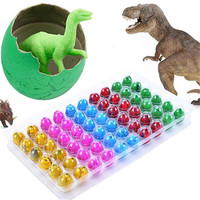 60Pcs Magic Hatchable Eggs Hatching Growing Dinosaur Add Water Growing Dino Egg Gags Practical Jokes Kid Fun Toys Gift Gadget