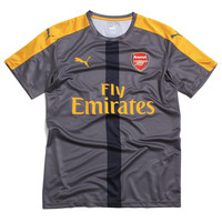 Arsenal FC 2016/17 Stadium Training Soccer Jersey Steel Grey / Spectra Yellow