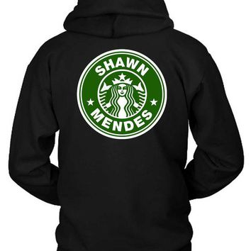 DCCKG72 Shawn Mendez Starbucks Logo Funny Classic Hoodie Two Sided